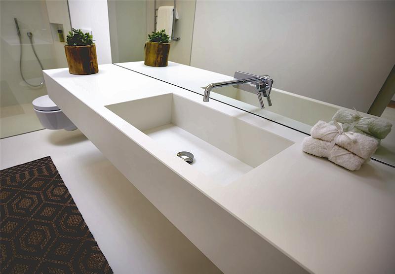 Realizzazione top bagno - Piani bagno in marmo - Spinelli Marmi - Cesena